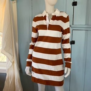 VERONICA BEARD Dusty Rugby Dress Long Sleeve Knit